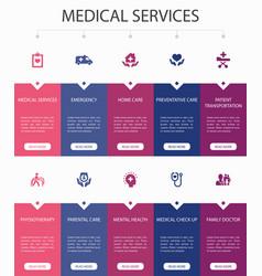 Medical services infographic 10 steps ui design vector