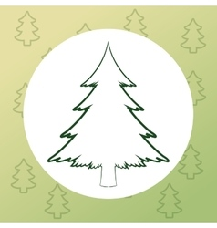 Merry christmas pinetree design vector