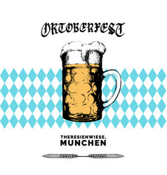 oktoberfest label beer festival flyer vector image