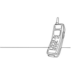 one continuous line drawing retro classic vector image