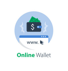 Online wallet and banking services vector