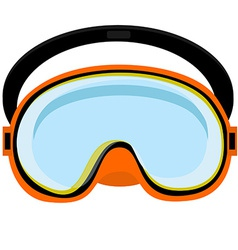 Orange diving mask vector