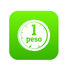 Peso icon digital green vector