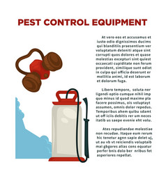 Pest prevention means informative poster with vector