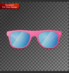 pink ladies sunglasses on transparent background vector image