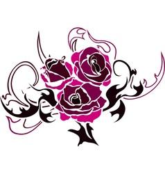 pink rose stencil vector image