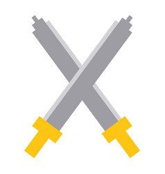 pixel crossed swords video game interface design vector image