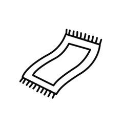 Prayer rug icon line style vector