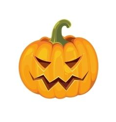 pumpkin with an evil expression on his face vector image
