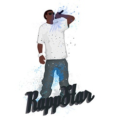 Rapper vector image