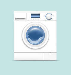 Realistic detailed 3d washing machine vector