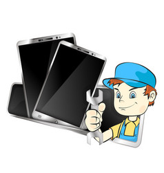Repair of mobile phones and smartphones vector