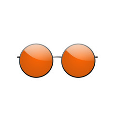 Round sunglasses 3d summer sunglass shade vector