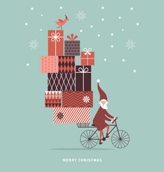 santa claus is coming to town vector image