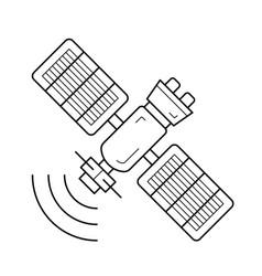 Satellite antenna line icon vector