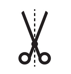 scissors icon on white background scissors sign vector image