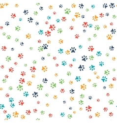 seamless pattern with cat or dog footprints vector image