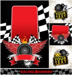 set of racing banners vector image