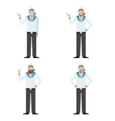 set sailors vector image