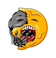 sleepy expression changes to black face vector image