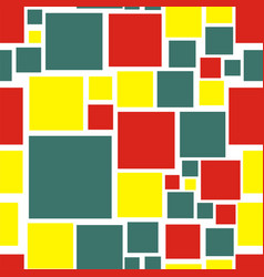 square seamless pattern vector image