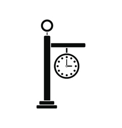 Street clock icon vector image