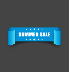 Summer sale ribbon icon discount sticker label on vector
