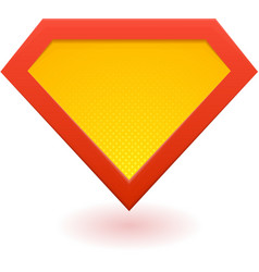 Super hero logo vector image