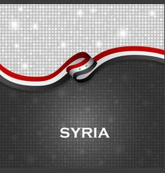 Syria flag ribbon shiny particle style vector