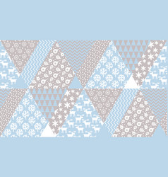tender blue and beige christmas seamless pattern vector image