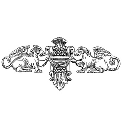 The reliefs of the 19th century vector