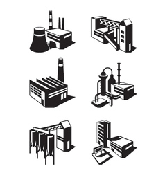 Types of industrial construction vector image