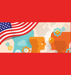 Usa united states of america concept of thinking vector