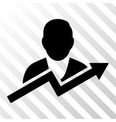 User Trend Icon vector