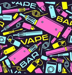 Vape bar seamless pattern vector image