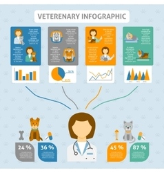 Veterinary clinic infographic chart banner vector
