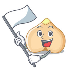With flag chickpeas mascot cartoon style vector