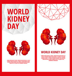world kidney day flyer template vector image