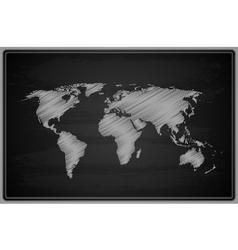 World Map - Chalkboard vector