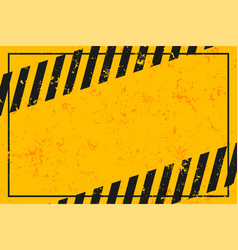 yellow warning background with black stripes vector image