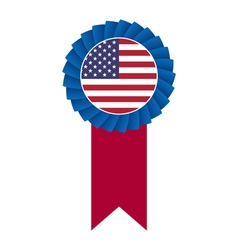 4th july rosette vector image vector image