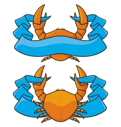 crab banner vector image vector image