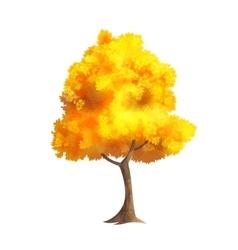 Gold Autumn Tree vector image