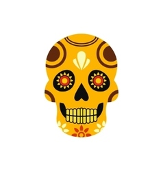 Mexican skull icon flat style vector image vector image