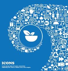 Organic food icon sign Nice set of beautiful icons vector image