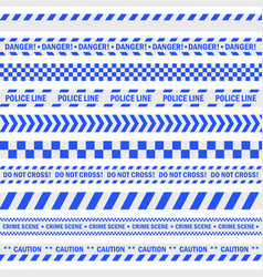 police blue tape vector image vector image