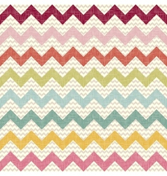 Seamless color chevron pattern on linen texture vector image vector image