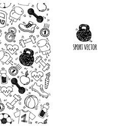 Sport vertical banner white and black vector image vector image