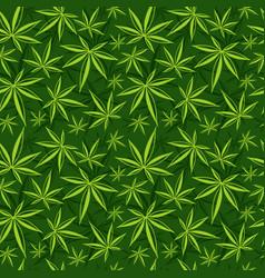 cannabis weed marijuana leaves seamless vector image