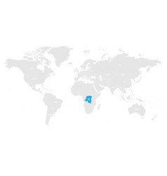 democratic republic of congo marked by blue in vector image